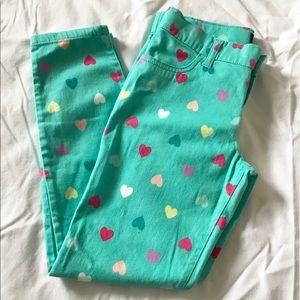 Children's Place Heart Print Pants W/ (4) Pockets